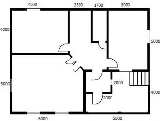 Первый этаж (первый вариант)